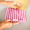 Rock On Ruby Striped Packaging