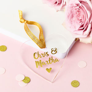 Personalised Couple's Foiled Keepsake Heart - decorative accessories