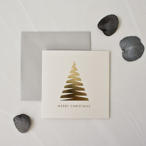 Modern Christmas Tree Cards Pack Of Eight - what's new