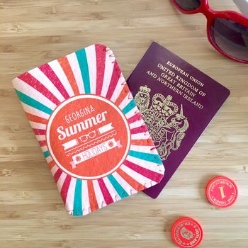 Retro Swirl Passport Holder