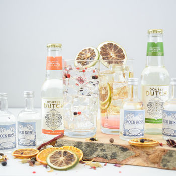 Scottish Rock Rose Gin And Tonic Set