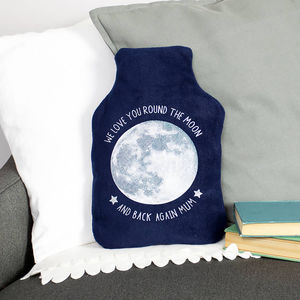 Moon And Back Personalised Hot Water Bottle For Mum