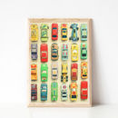 Car Park Retro Print For Boy's Room