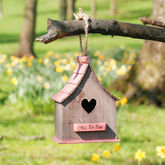 Personalised Wooden Bird Hotel - garden