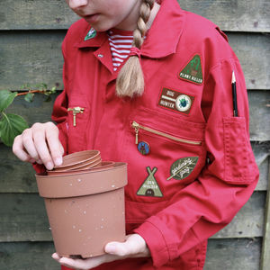 Embroidered Merit Patch Set For Gardeners - gifts for children