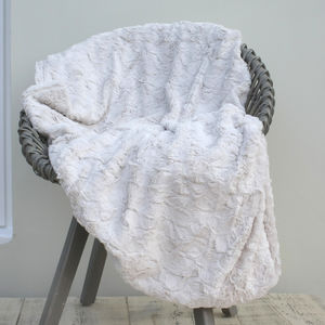 Supersoft Mink Or Oyster Throw - throws, blankets & fabric