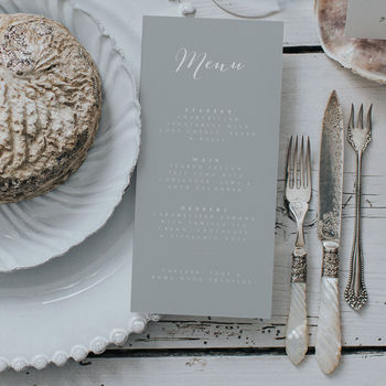 Timeless Menu Card