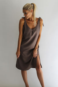 Midi Slip Dress - dresses