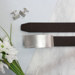 Groom's And Groomsmen Wedding Belt - men's accessories