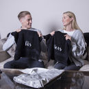 Set Of 'His' And 'Hers' Cotton Hand Towels