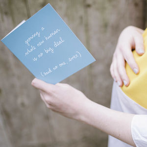 'Growing A Human No Big Deal' Sarcastic New Baby Card - gifts for mums to be