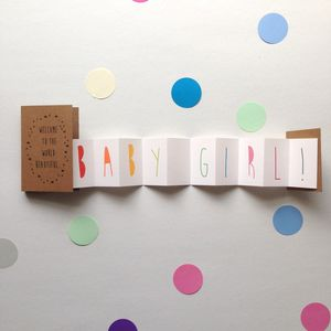 New Baby Congratulations Concertina Card