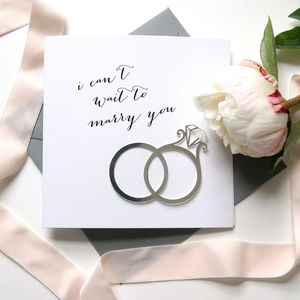 Wedding 'I Can't Wait To Marry You' Card