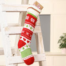 Nordic Red Patterned Knit Christmas Stocking