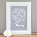 Personalised Family Names Mother's Day Gift Print