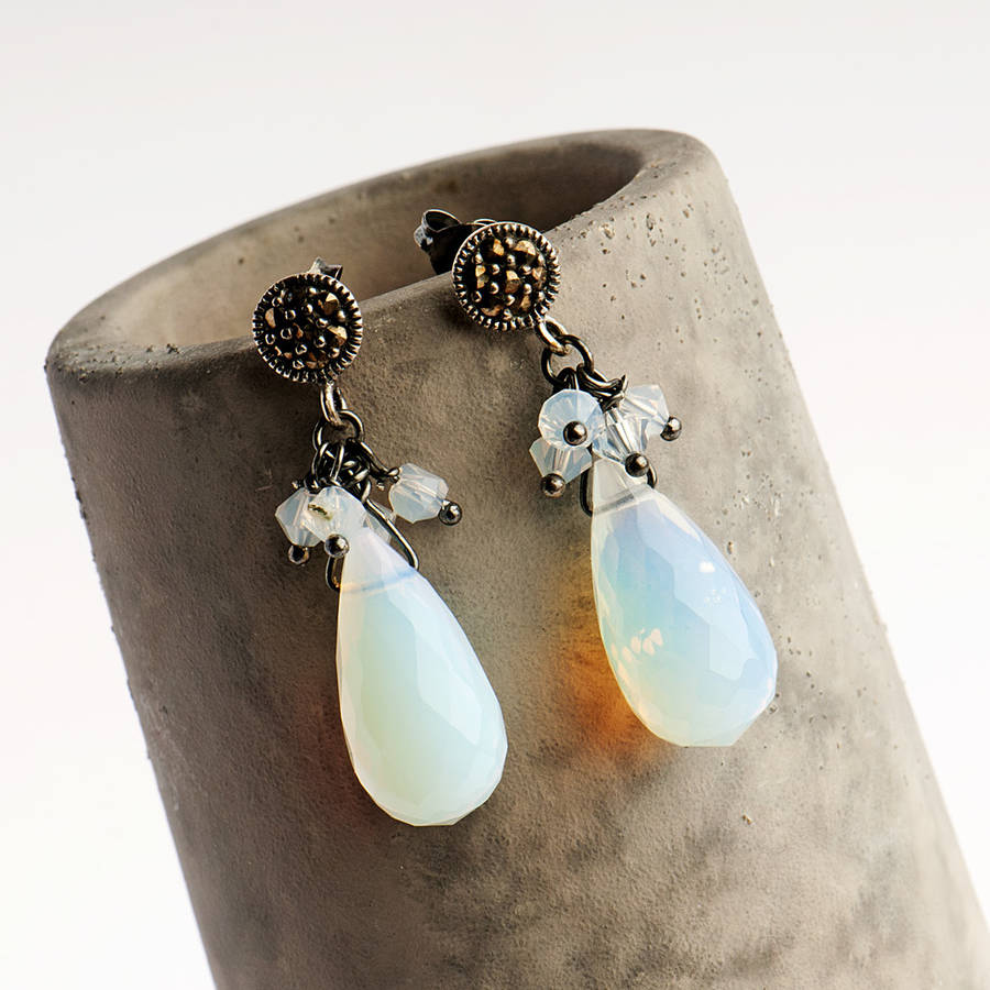 Vintage Opalite Drop Earrings