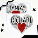 Personalised Christmas Heart Glitter Card