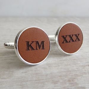 Engraved Leather Cufflinks - view all father's day gifts