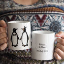 Personalised Penguin Pairs Mug