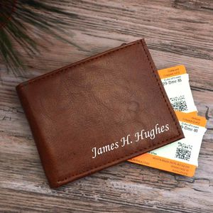 Tanned Brown Personalised Wallet Gift In Box