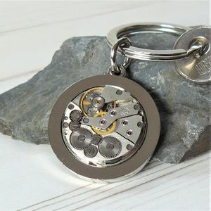 Silver Watch Movement Keyring