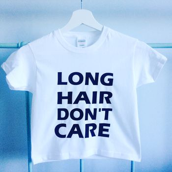 Surf Dude Tshirt 'Long Hair Dont Care'