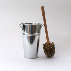 Toilet Brush And Galvanised Bucket - bathroom