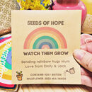 Personalised Rainbow Seeds Of Hope Wildflower Packet