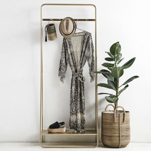 Retro Brass Clothes Rail