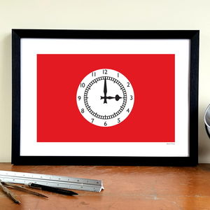 'Clock End' Football Stadium Design Art Print - posters & prints