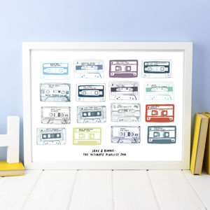 Personalised Play List Cassette Print - last-minute christmas gifts for him