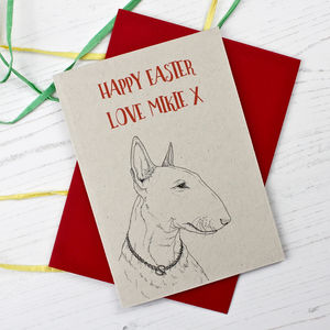 Bull Terrier Easter Card