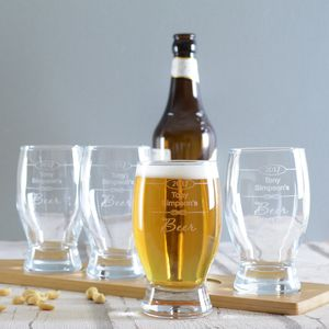 Personalised Stag Party Beer Glass Set