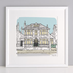 Personalised House Portrait - gifts for mothers