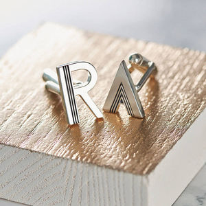 Deco Letter Cufflinks - gifts for him