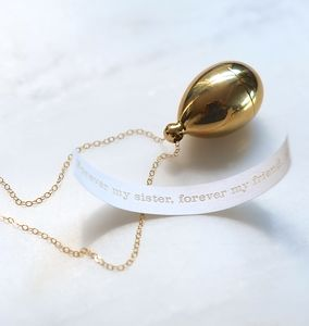 Secret Message Brass Locket Necklace