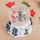 Large Father Christmas By Christmas Tree Snow Globe