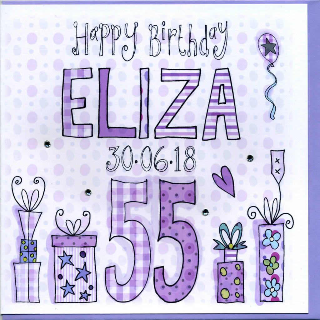 55th Birthday Card By Claire Sowden Design