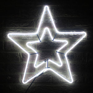 LED Neon Double Star - the christmas home edit
