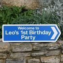 Personalised Birthday Party Signs