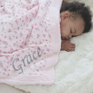 Luxury Ditsy Print Fleece Blanket - cot bedding