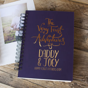 First Father's Day Baby Adventures Memory Book - first father's day