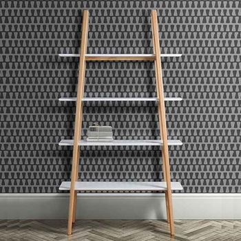 Mid Century White Oak Shelving Unit