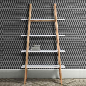 Mid Century White Oak Shelving Unit - furniture