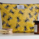 Bright Yellow Wash Bag With Insects