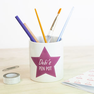 Personalised Pen Pot - desk tidies