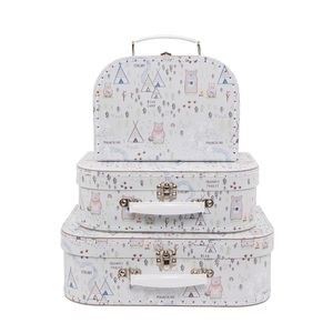 'Bear Camp' Set Of Three Suitcases - children's room