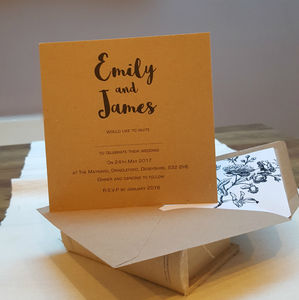 Kraft Wedding Invitation Cards - invitations