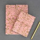 Recycled Gold Floral Notebooks