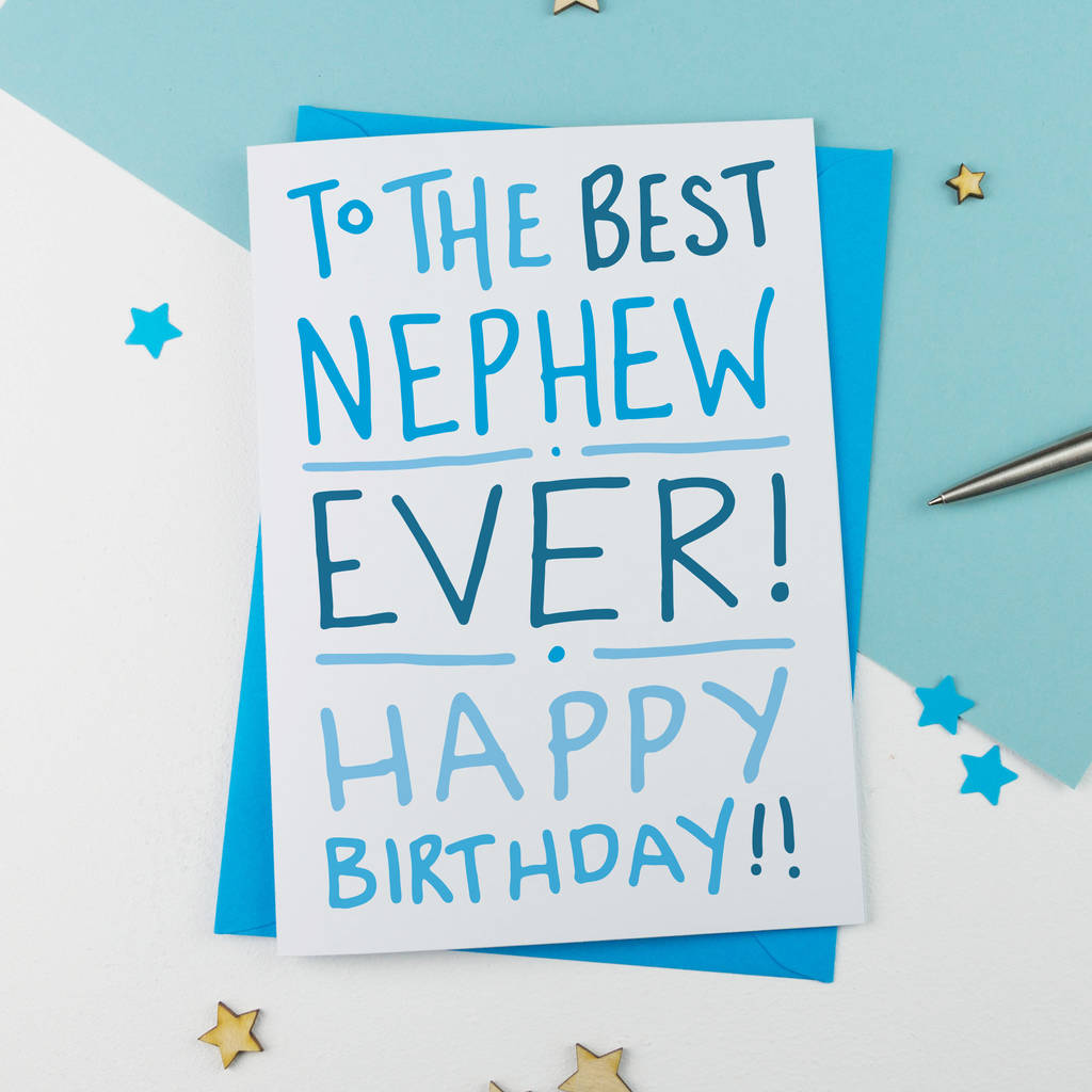 Best Ever Nephew Birthday Card By A Is For Alphabet